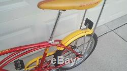 Schwinn 1979 Stingray Vintage Bicycle 20 3 Speed Red/Yellow