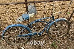 Schwinn American Blue Mens Bicycle Bloomington Indiana Bike Tag Howard Chevy Vtg