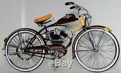Schwinn Bicycle Vintage Motorized Bike Motorcycle Metal Model Length11 Inches