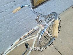 Schwinn Corvette White Panther Jaguar Vintage Bicycle Cruiser phantom rare