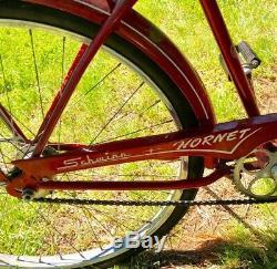Schwinn Hornet 26 Mens Vintage 1957 Bicycle 26 All Original Nice