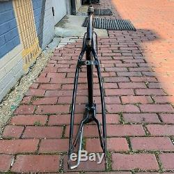 Schwinn Jaguar 5-speed Bicycle Frame With Fork Vintage Rare Black Balloon