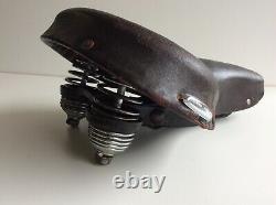 Schwinn Original1950 Black Phantom Vintage Bicycle Mesinger Leather Seat Saddle