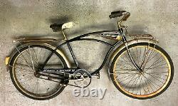Schwinn'Panther III' chrome front/rear racks and fenders, chain-guard. Vintage