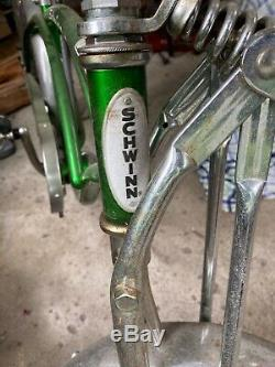 Schwinn Stingray 1980 Vintage Pea Picker Bicycle Green USA 48 states shipping