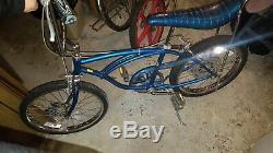 Schwinn Stingray Five Speed Blue Vintage Bicycle 70s