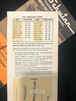 Schwinn Vintage 1968 Orange Krate Sting-Ray Owners Manual & Tire Care Guide