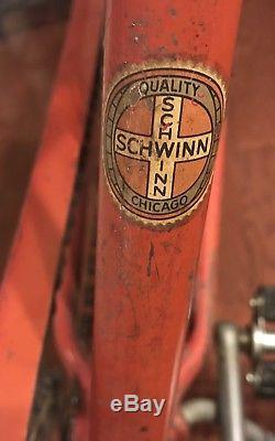 Schwinn Vintage Antique Bicycle DX Persons Seat tubular S-2 white rim