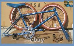 Schwinn bmx bicycle vintage Blue Competition Scrambler