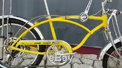 VINTAGE 1973 SCHWINN STINGRAY LEMON PEELER KRATE 5-SPEED BICYCLE disc brake old