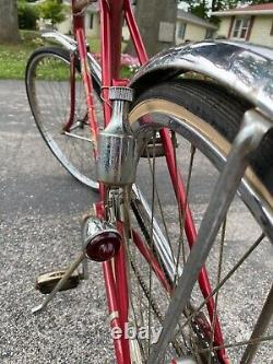 VINTAGE Original SCHWINN TRAVELER MENS CRUISER BICYCLE 2 SPEED AUTO KICK BACK