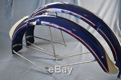 VINTAGE SCHWINN FENDERS SPRINGER FORK Bicycle Frame Autocycle Panther DX B6