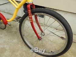 VINTAGE SCHWINN STINGRAY BICYCLE- RARE YELL. /RED COLOR- 100% ORIG. VINTAGE BIKE
