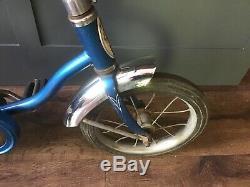 Vintage 12 Schwinn Bicycle Bike Blue Lil Tiger Banana Seat