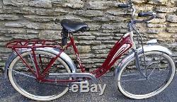 Vintage 1936 Prewar Schwinn Hudson Womens Balloon Tire Bicycle