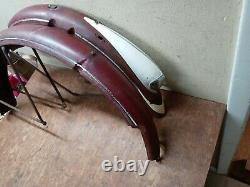 Vintage 1940's-50's Schwinn 26 Autocycle B6 ducktail bicycle Fenders Phantom s2