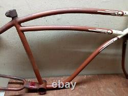 Vintage 1947 Monark Rocket 26 mens Bicycle frame fork not schwinn dx S2 klunker
