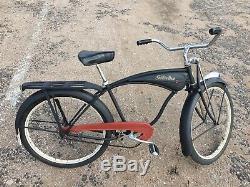 Vintage 1948 Schwinn b6 Autocycle Phantom Bicycle Balloon Tank Beach Bike