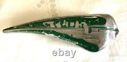 Vintage 1949-1953 Schwinn Green Phantom Bicycle Tank, Original Paint Survivor