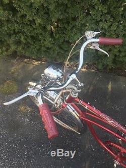 Vintage 1950s/60s Schwinn Corvette Red Boys Bicycle