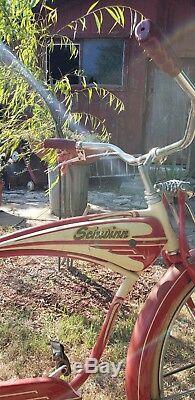 Vintage 1950s Schwinn Bike Antique Old Bicycle CollectableNICE BIKE