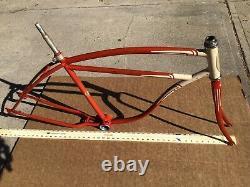 Vintage 1950s Schwinn Hornet Straight Bar Heavyweight Frame Fat Tire Cruise Part