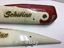 Vintage 1950s Schwinn Mens Straightbar Horn Tank Hornet Spitfire Bike Original