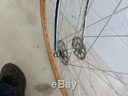 Vintage 1950s Schwinn Paramount Racer Track Frame Chrome Bike Wooden Wheelset