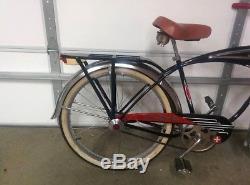 Vintage 1951-1957 Schwinn Black Phantom Bicycle Bike Serial Number B98355