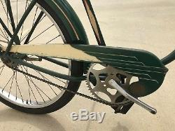 Vintage 1952 Schwinn Autocycle B6 Men's Balloon Tire Tank Rack Bicycle