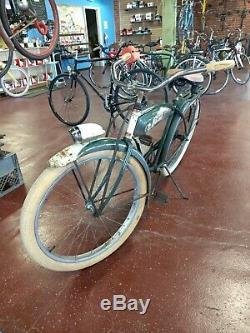 Vintage 1952 Schwinn Hornet Balloon Tire Tank Bicycle DX Jaguar Phantom Era