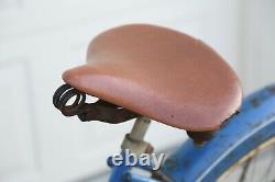 Vintage 1952 Schwinn Hornet Bicycle Blue tank horn balloon tire old bike antique