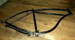 Vintage 1952 Schwinn Straight Bar Bicycle Frame H 25