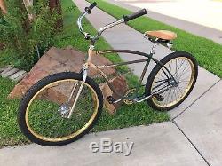 Vintage 1952 Schwinn Straight Bar Cruiser Bike Klunker Old 26 Bmx Cook