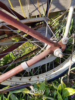 Vintage 1953 SCHWINN Bike Antique Fat Tire Bicycle 20 BALLOON TIRE TANK RACK