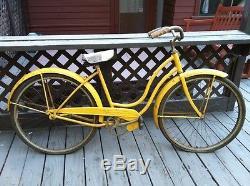 Vintage 1957 Women's 26 Schwinn Cruiser Bicycle Bike All Original