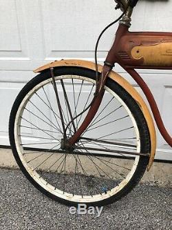 Vintage 1960 Schwinn Bicycle Flying Star 26 Wheels 18.5 Frame Chicago USA