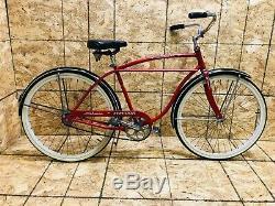 Vintage 1962 Schwinn Typhoon Boy's Red/Black Bicycle