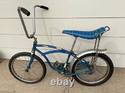 Vintage 1964 Original Schwinn Deluxe Stingray Boys Blue Bicycle Solo Polo Seat
