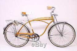 Vintage 1964 Schwinn Jaguar Mark V 5 Coppertone Bullet Rack Springer Bicycle