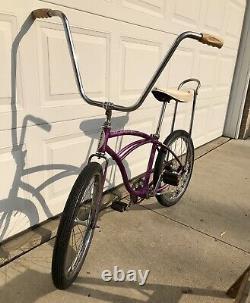 Vintage 1964 Schwinn Stingray Deluxe, Violet Color, Oct 1964, Old Muscle Bike