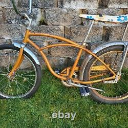 Vintage 1965 Schwinn Sting-Ray Deluxe Bicycle Coppertone Gold 20 J39 USA HTF