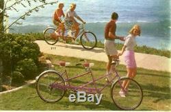 Vintage 1965 Schwinn Twinn Deluxe Tandom Bicycle Original, Great Condition