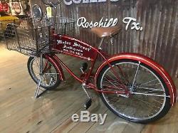 Vintage 1966 Schwinn Cycle Truck Men's Balloon Tire Tank Rack Bicycle