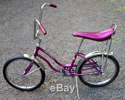 Vintage 1966 Schwinn FAIR LADY Stingray Bicycle VIOLET Banana Seat MUSCLE BIKE