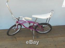 Vintage 1966 Schwinn Stingray, 2 Speed Frame White Smoothie Seat Original Paint