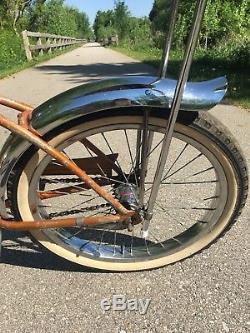 Vintage 1966 Schwinn Stingray Deluxe Banana Seat Muscle Bike Coppertone