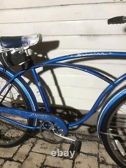 Vintage 1966 Schwinn Typhoon Deluxe Bike Mens 26 Cruiser 18 Blue Chicago SALE