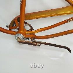 Vintage 1967 Schwinn Junior Sting-Ray Frame & Fork Set 20 Coppertone Gold USA