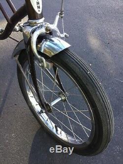 Vintage 1968 Schwinn Runabout 3 Speed Bicycle Run A Bout Brown